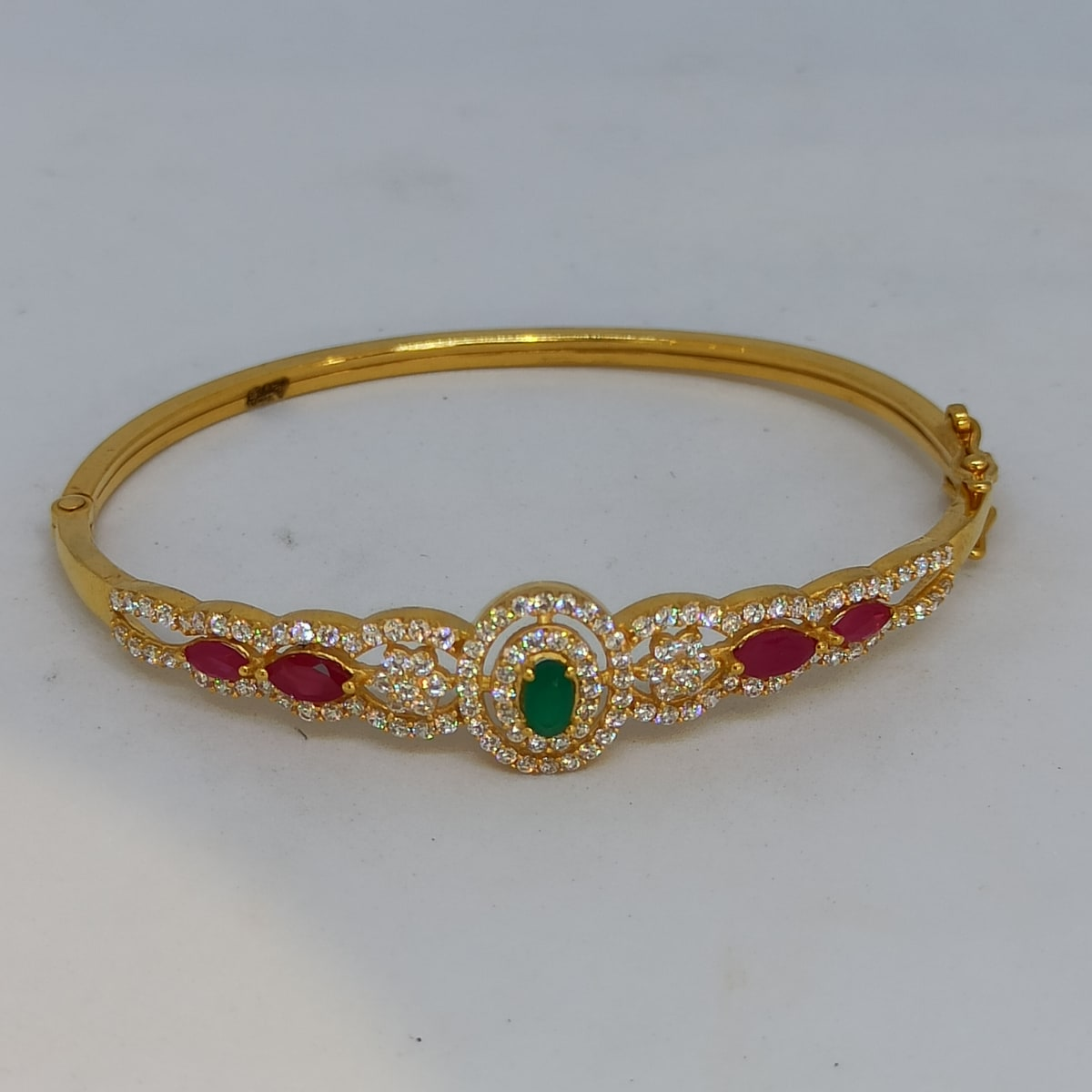 Emrald Gold Kada For Women