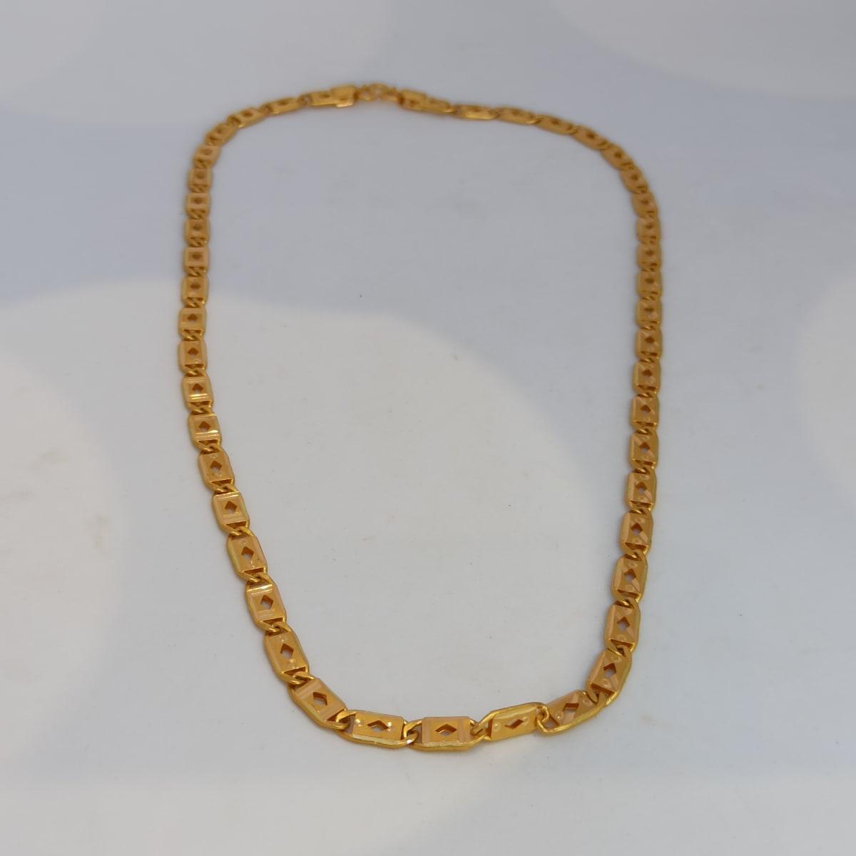 Rishabh Plain Gold Chain For Man