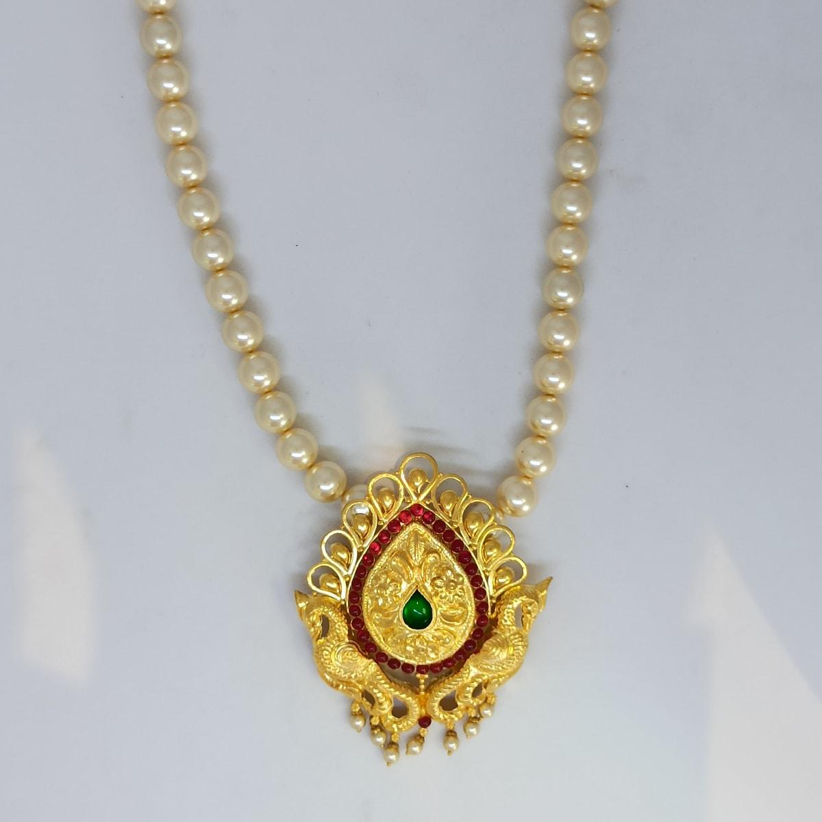Moti Peacock Necklace