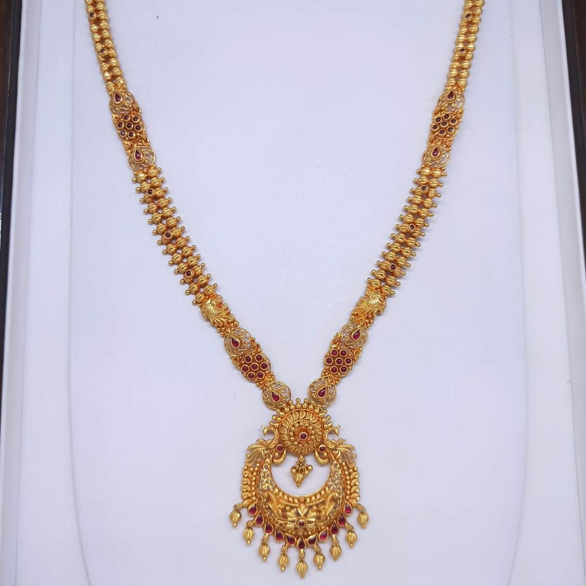Peacock Chaand Shape Haram