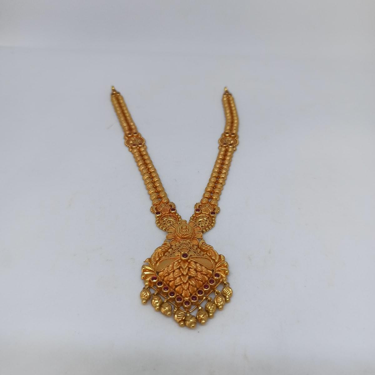 Floral Leaf Antique Necklace