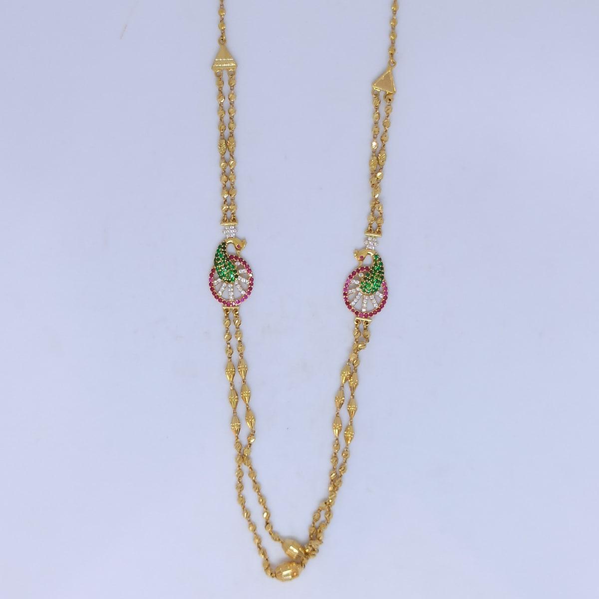 Peacock Cz Antique Necklace