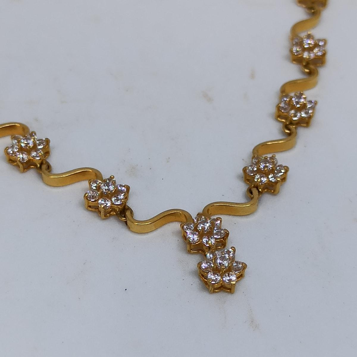 Wave Cz Necklace