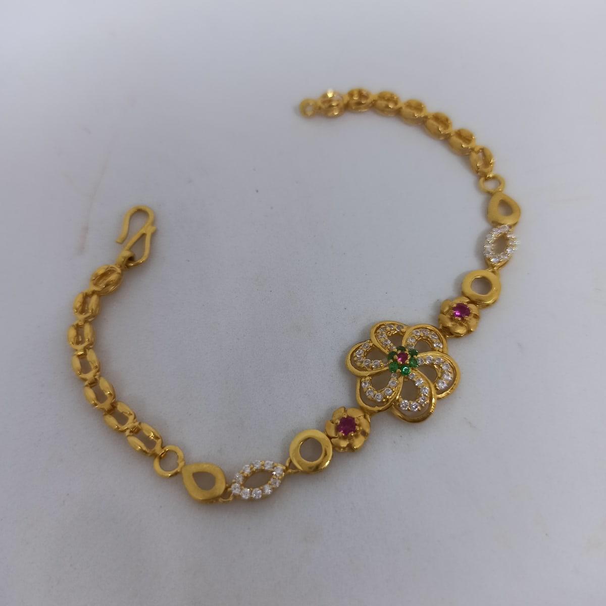 Flower Cz Bracelet