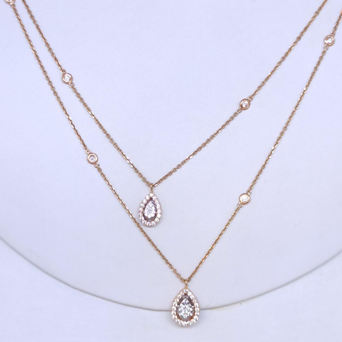 Double Chain Cz Necklace
