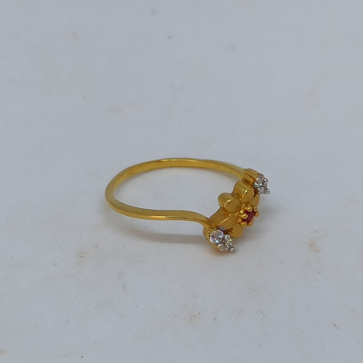 Flower Cz Ring For Her