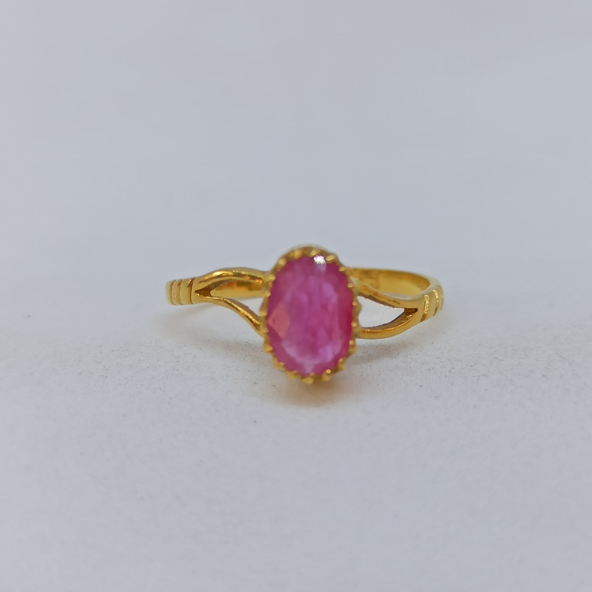 Oval Ruby Ring For Her
