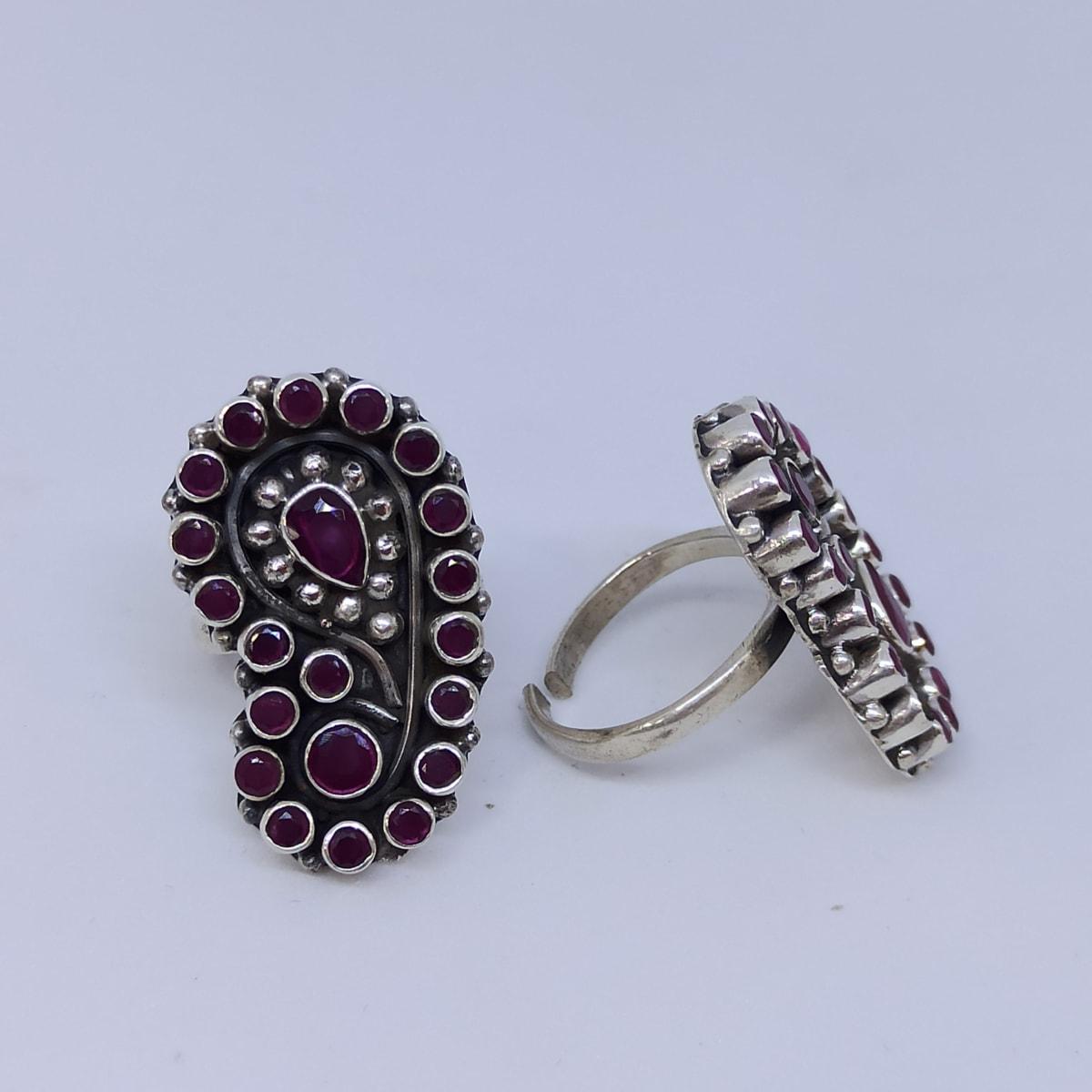 Purple Stone Toe Ring