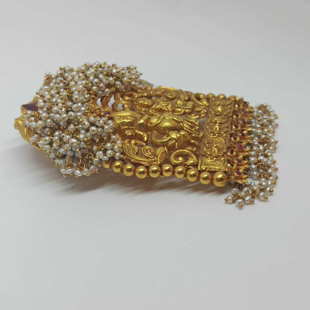 Radhe Krishna Antique Pendant