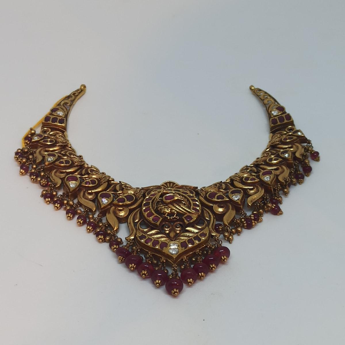 Antique Gold Kemp Necklace