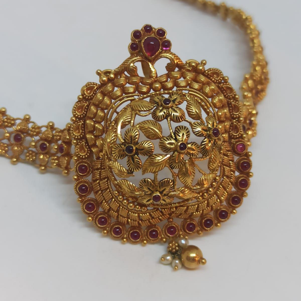 Flower Leaf Antique Necklace