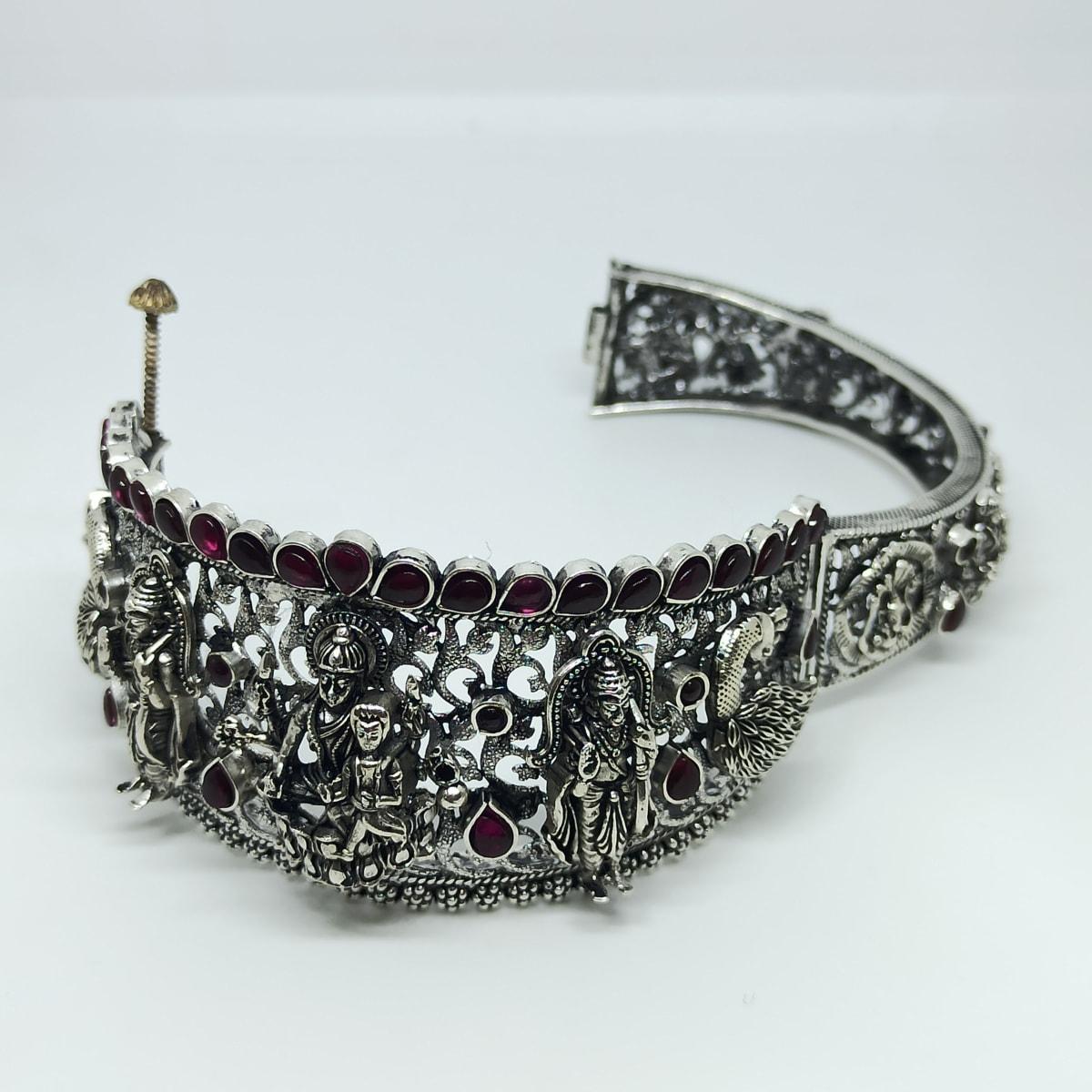 Sri Lakshmi Antique Silver Kada