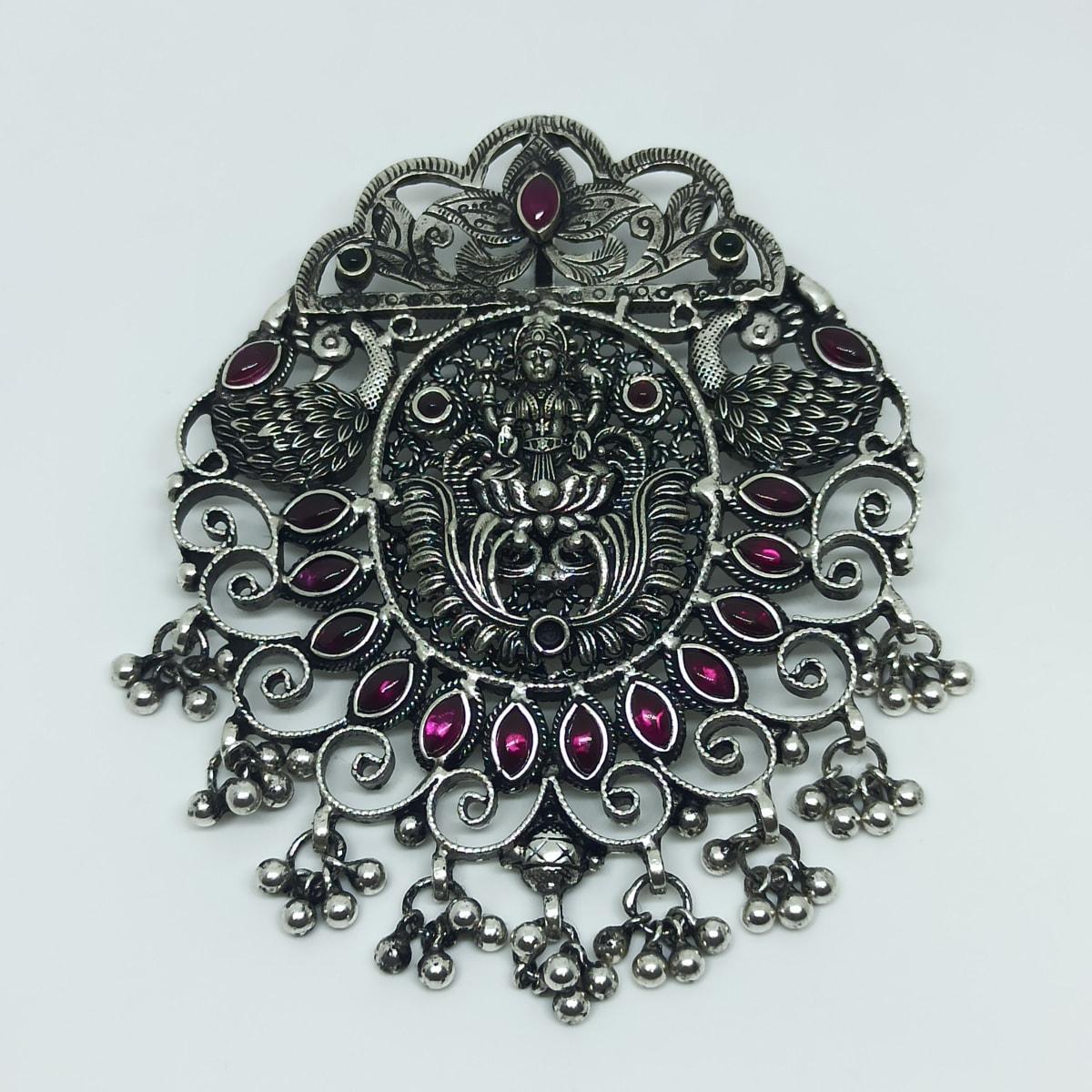 Lakshmi Silver Antique Pendant
