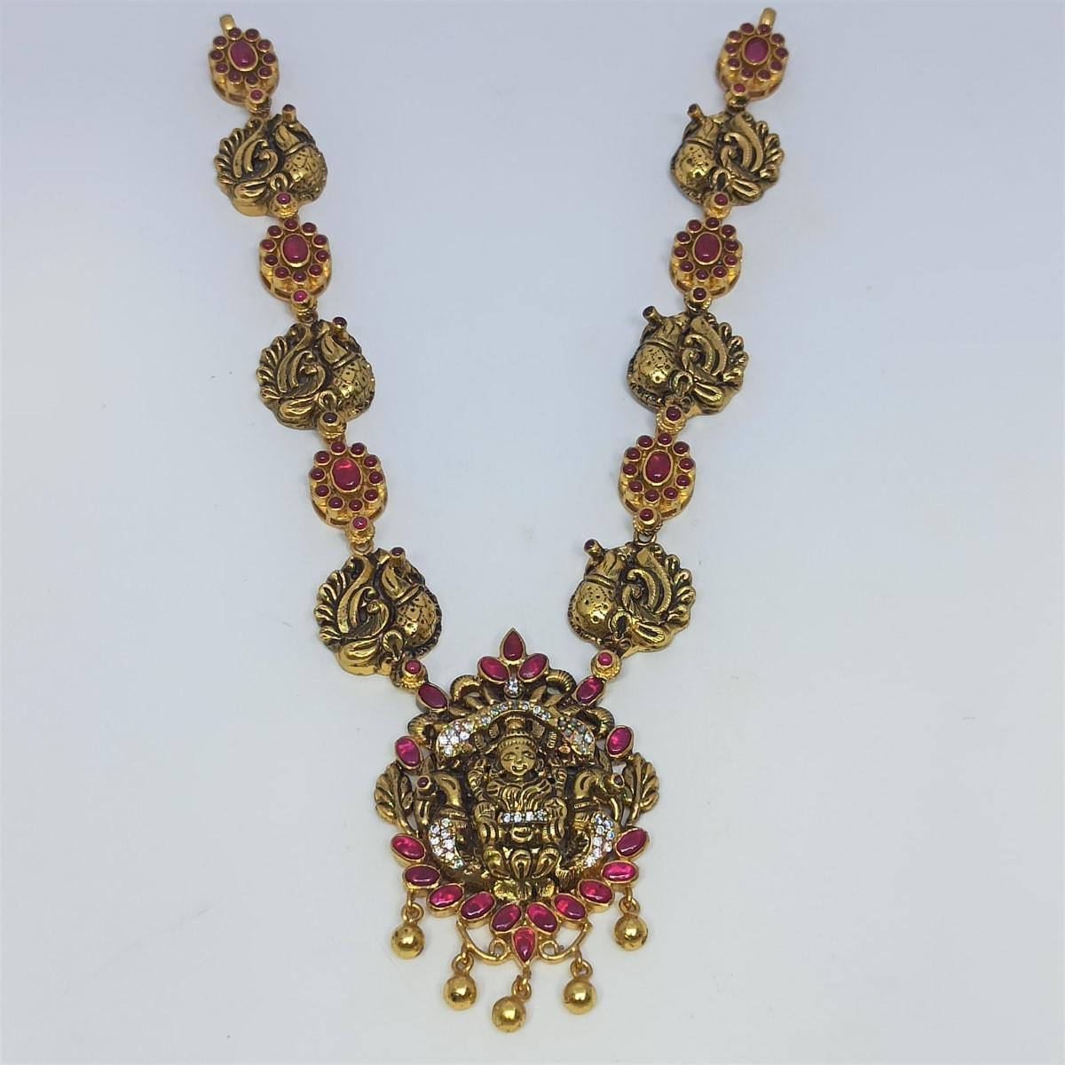 Lakshmi Cz Antoque Necklace