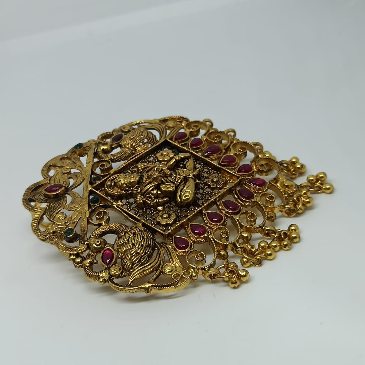 Lakshmi Antique Jali Pendant