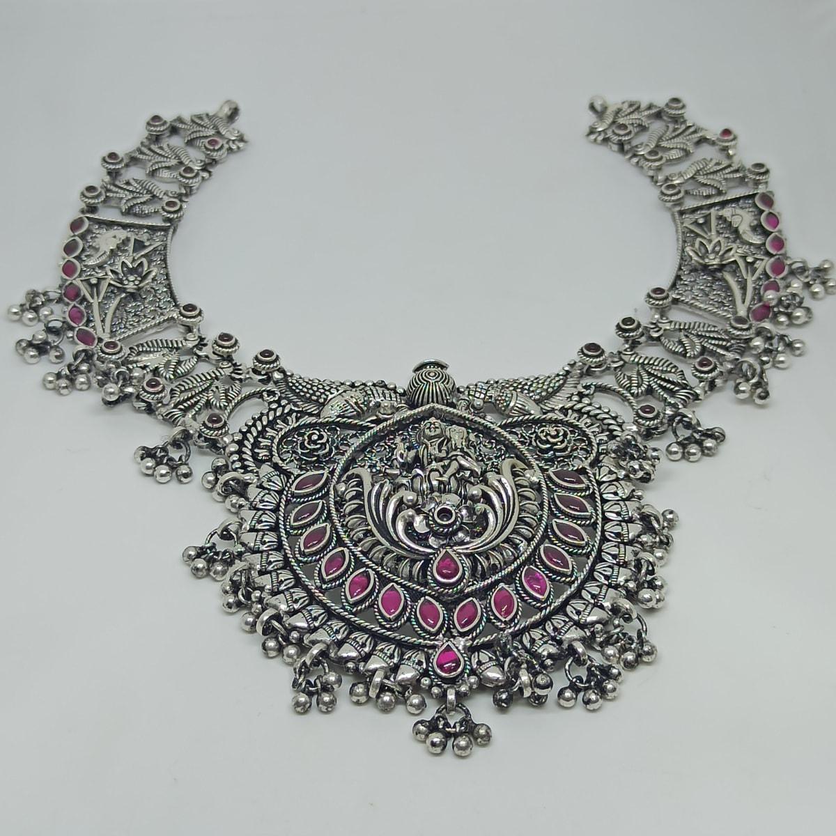 Parvathi Antique Silver Necklace