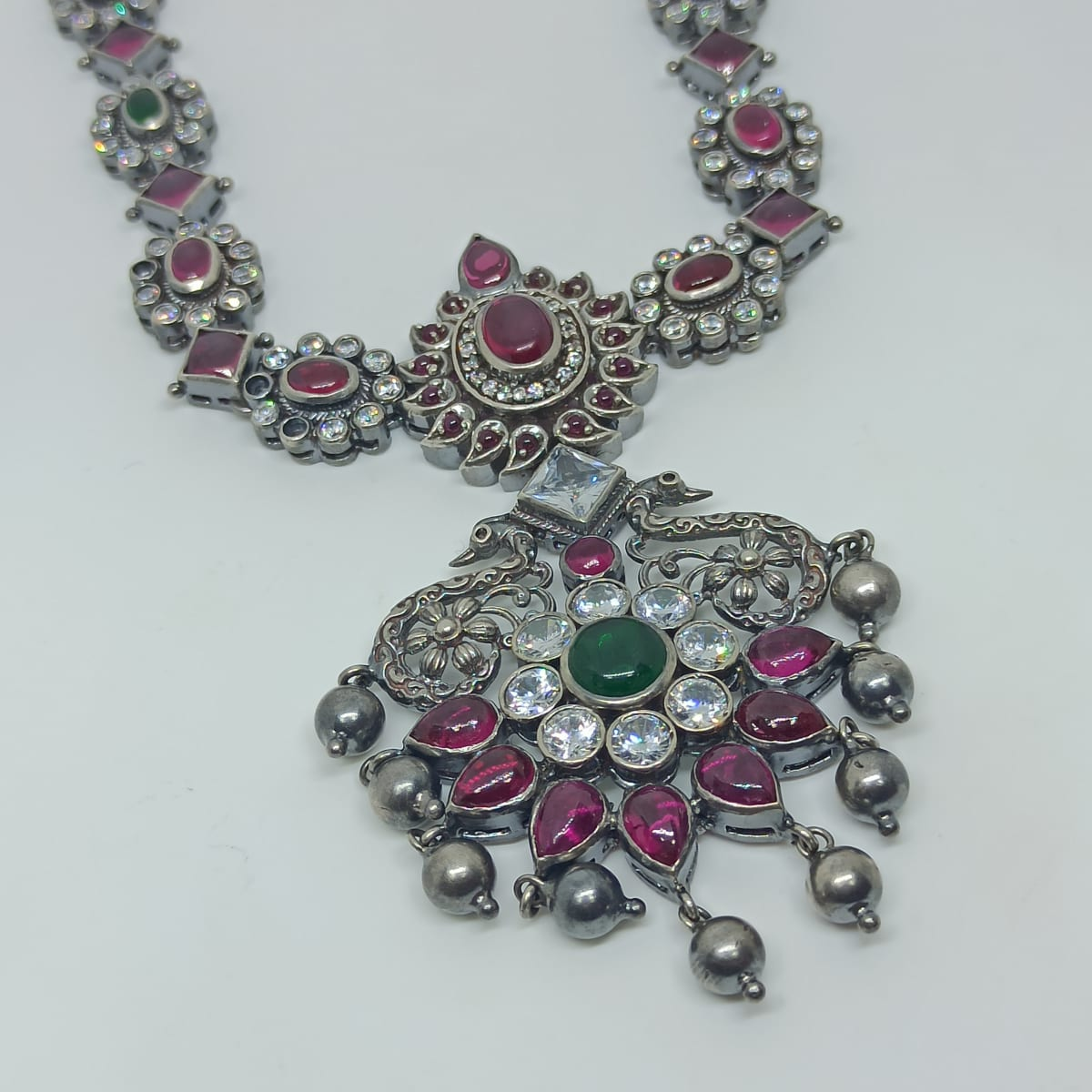 Peacock Antique Stone Necklace