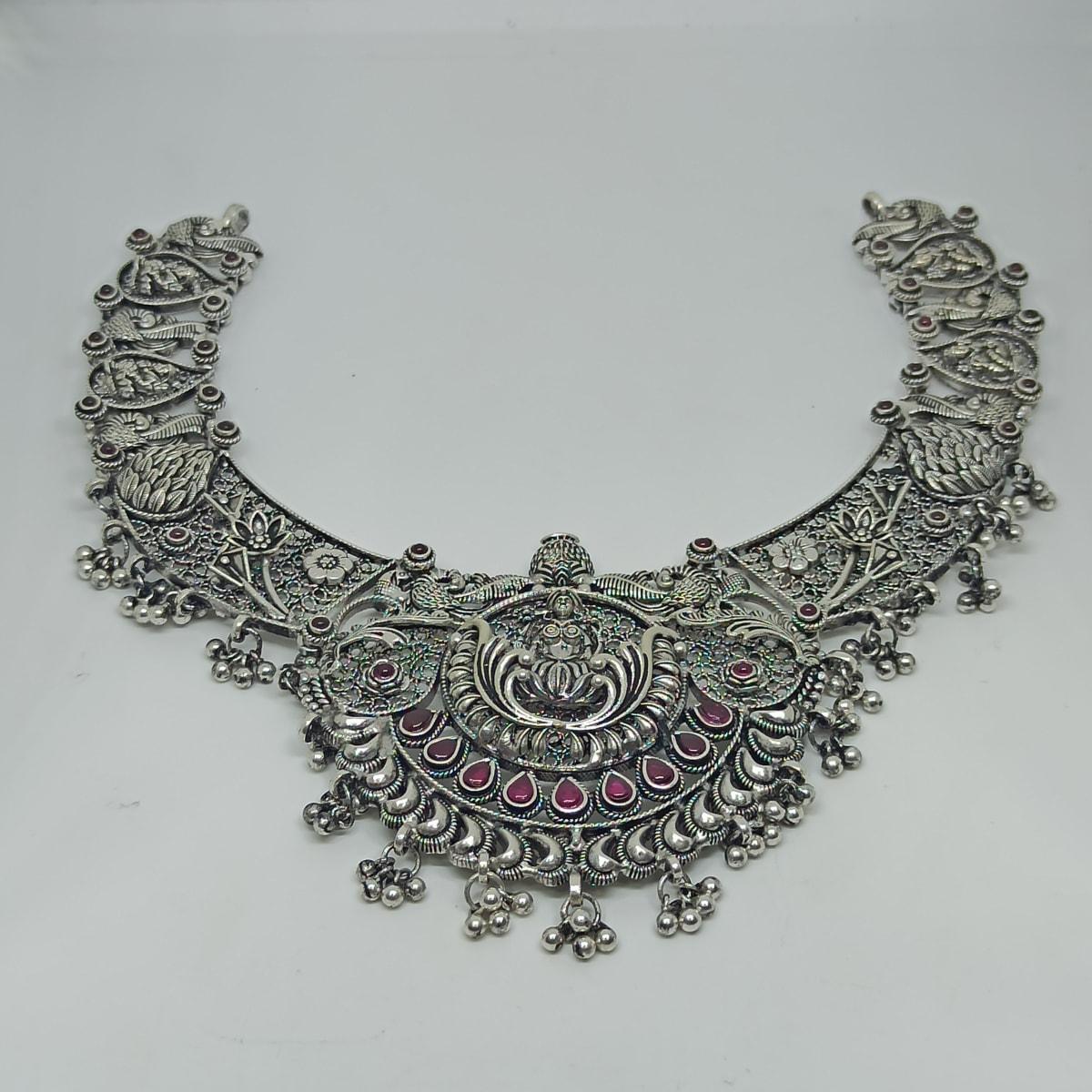 Lakshmi Antique Silver Necklace 2