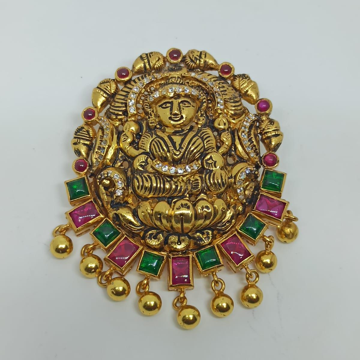 Lakshmi Colorstone Antique Pendant