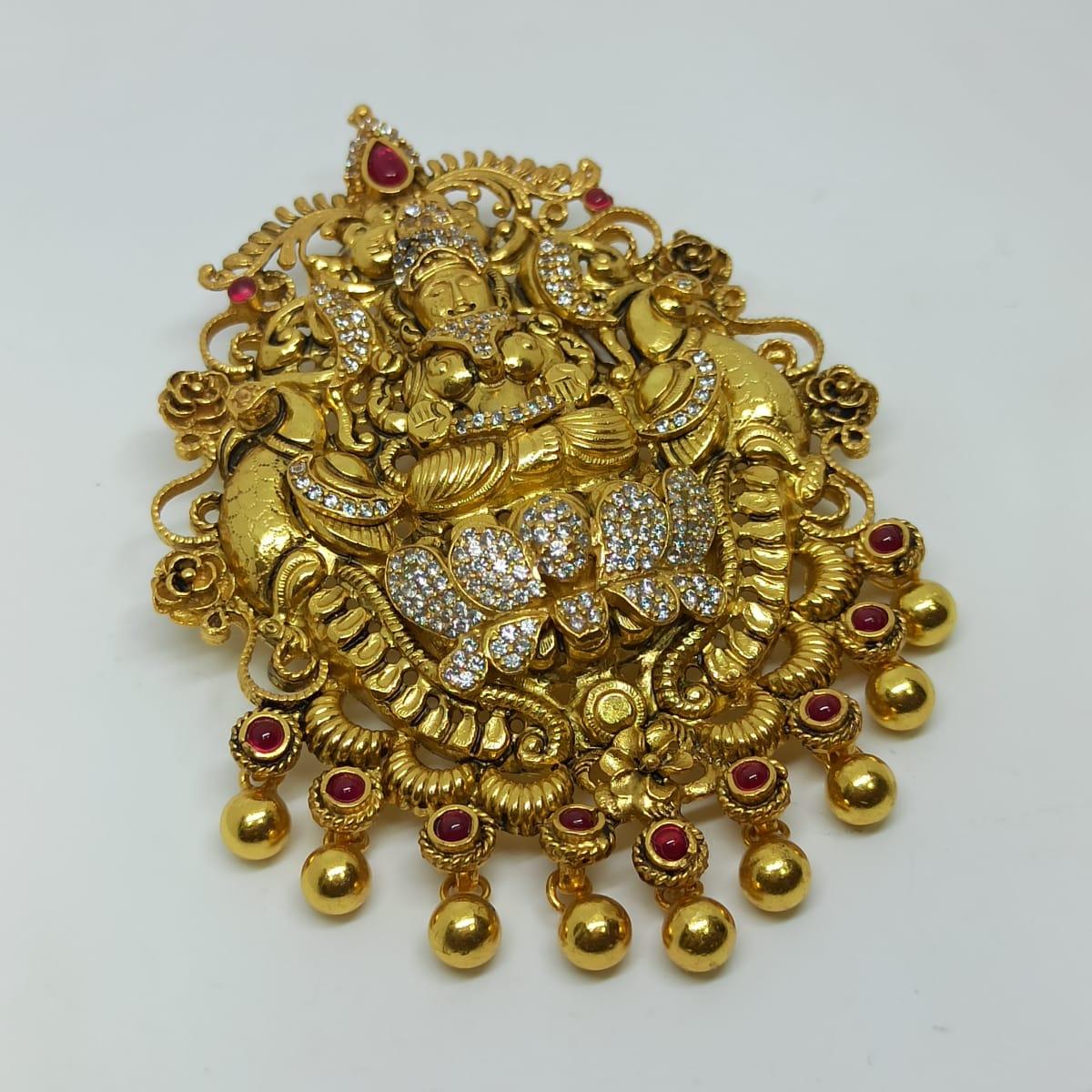 Lakshmi Cz Antique Pendant