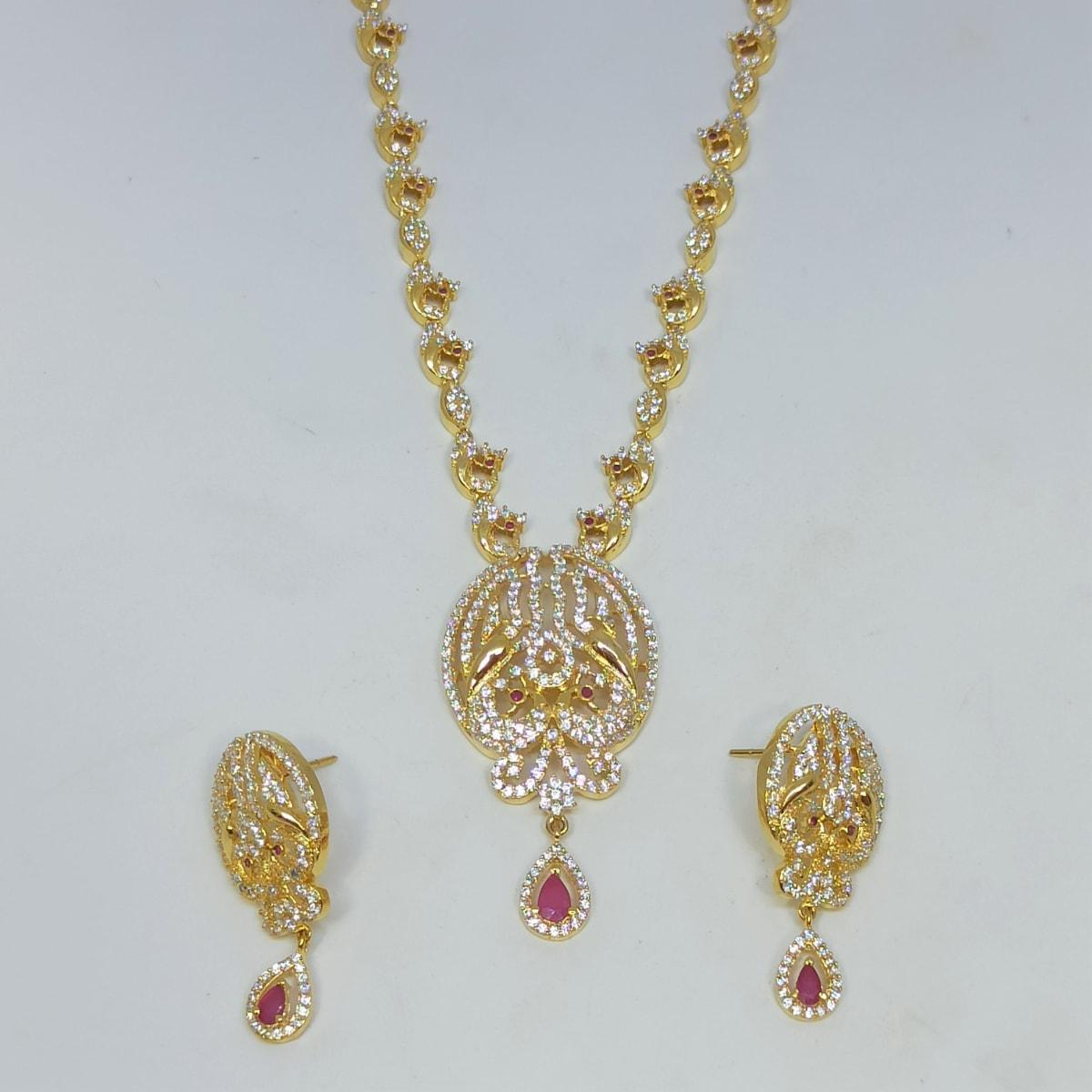 Devyani Cz Necklace Set