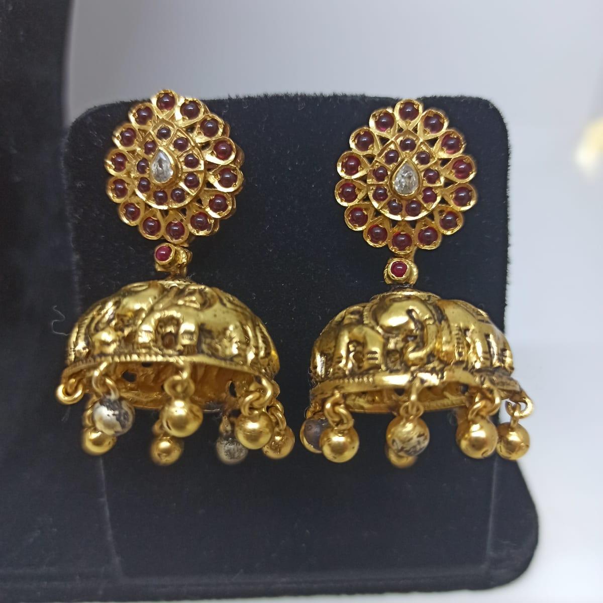 Elephant Antique Jhumka