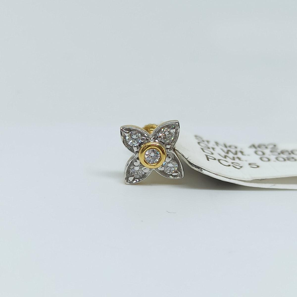 Floral Diamond Studs