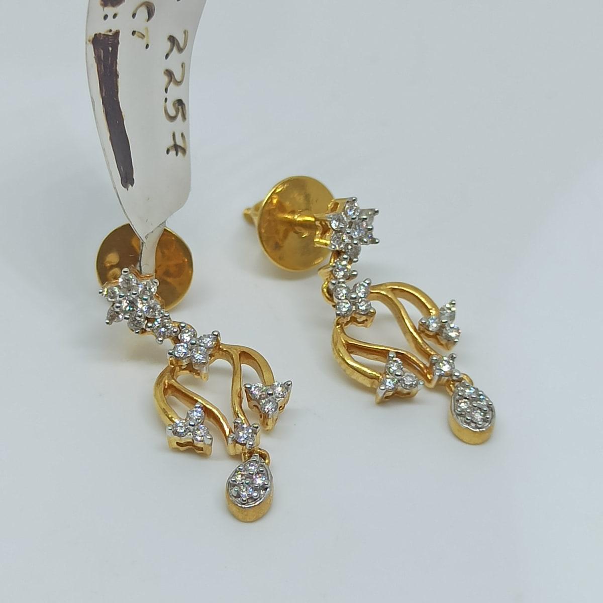Usha Leaf Diamond Earrings