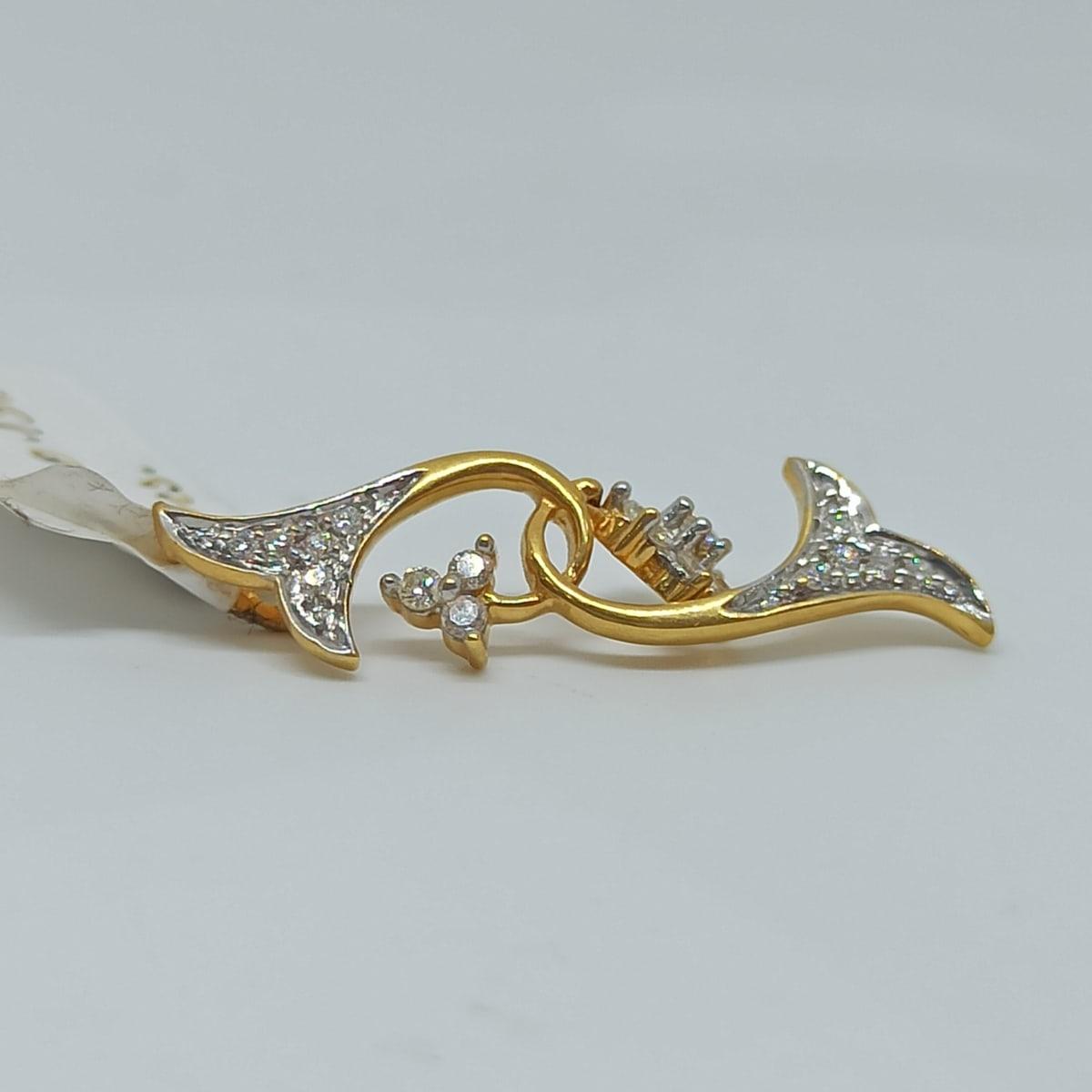 Leaf Floral Diamond Pendant