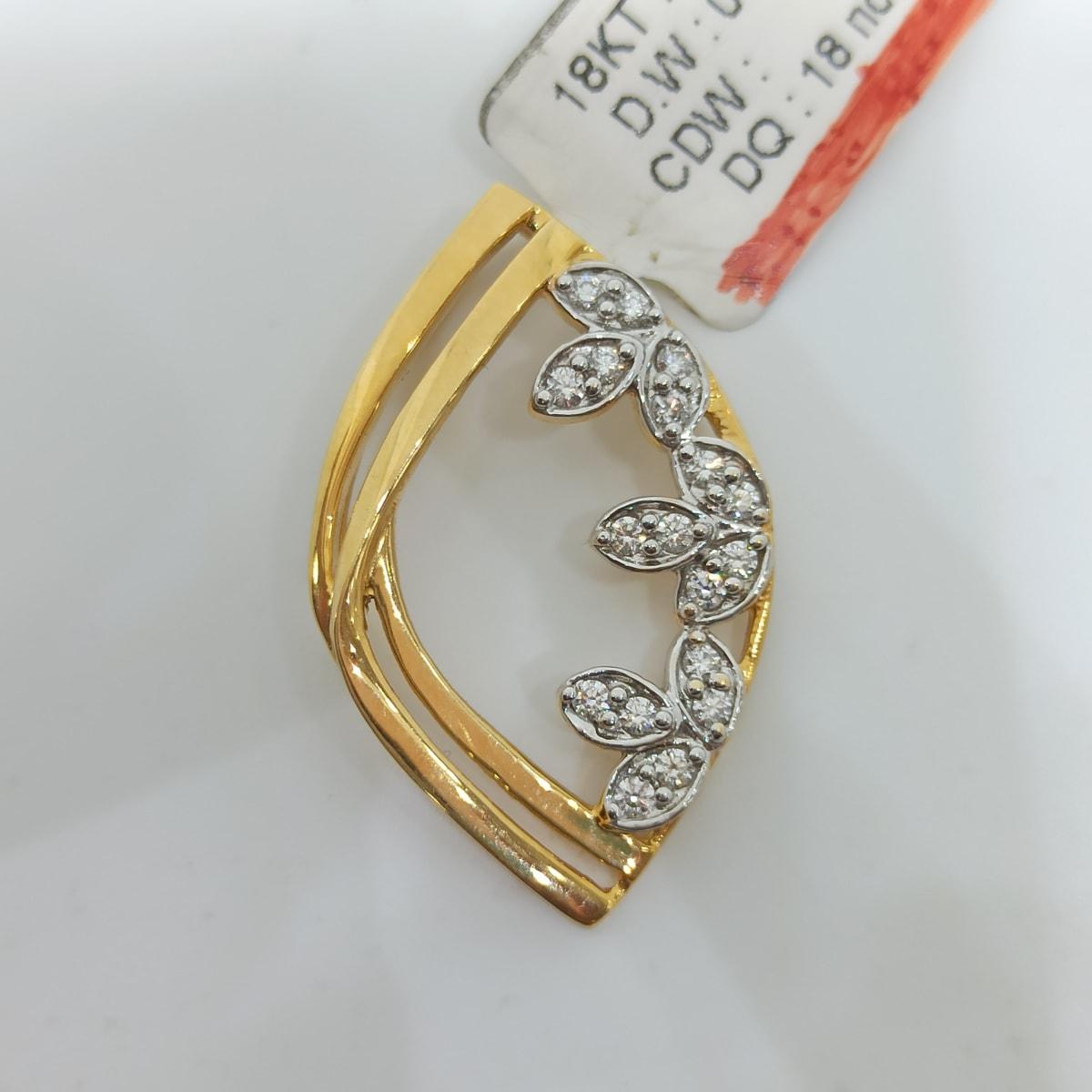 Eye Shape Diamond Pendant