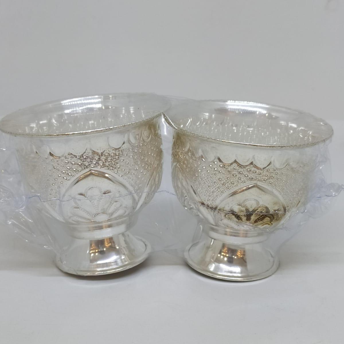 Silver Glass Bowls