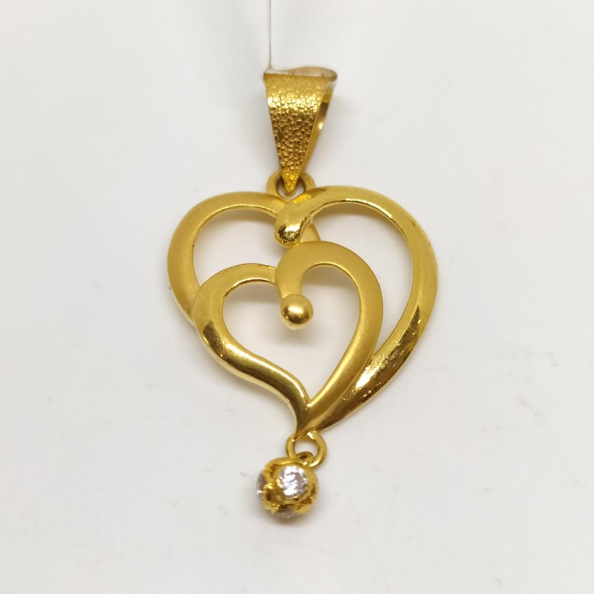 Dil Plain Gold Pendant
