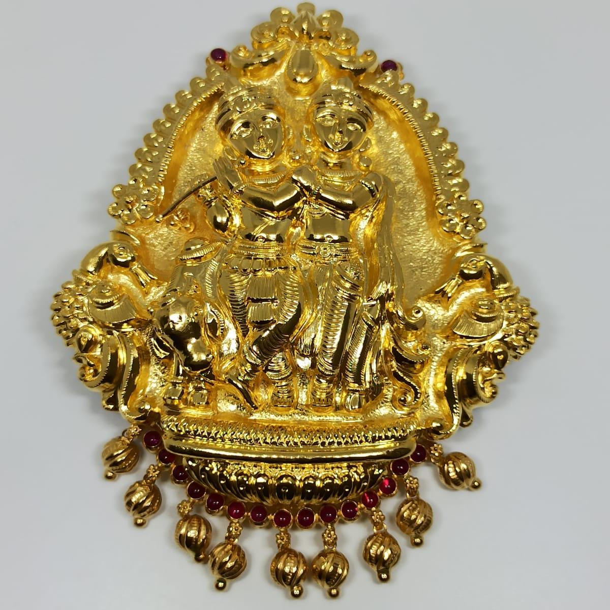 Radha Krishna Traditional Pendant