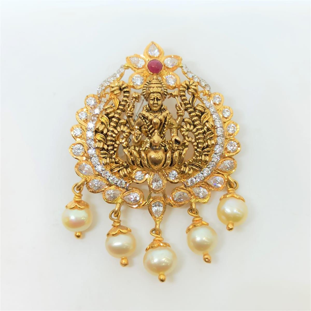 Lakshmi Antique Cz Pendant