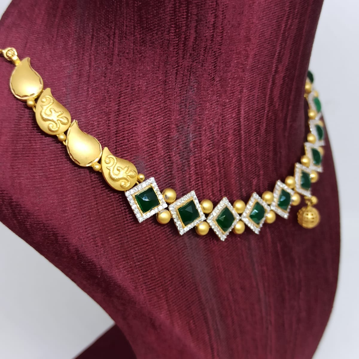 Dharini Cz Traditional Necklace