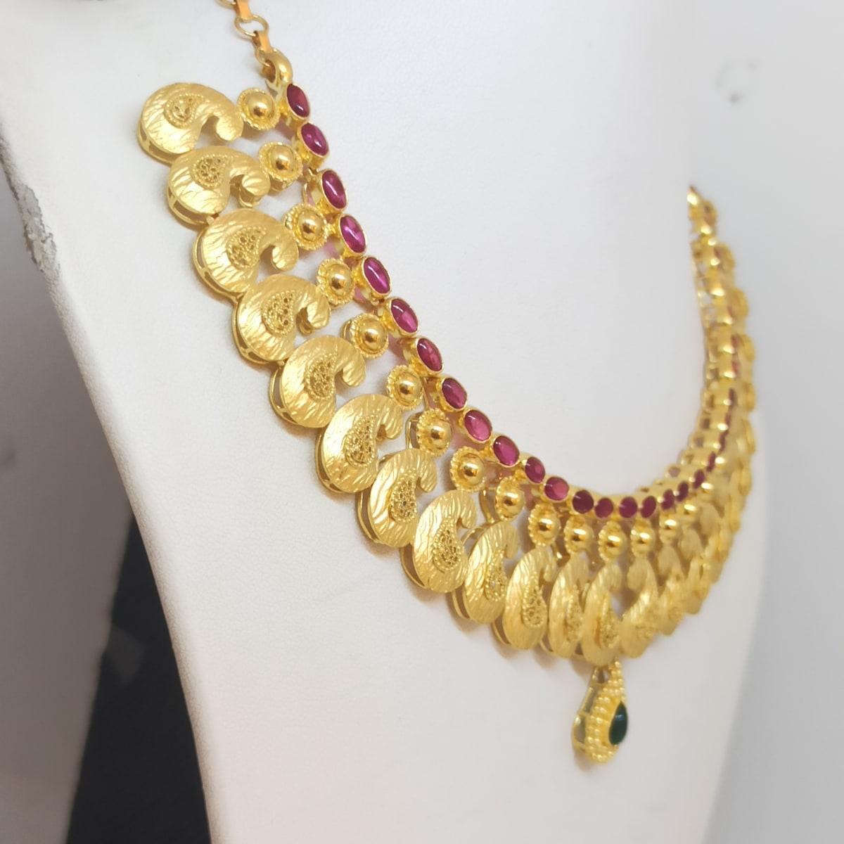 Mango Shape Stone Necklace