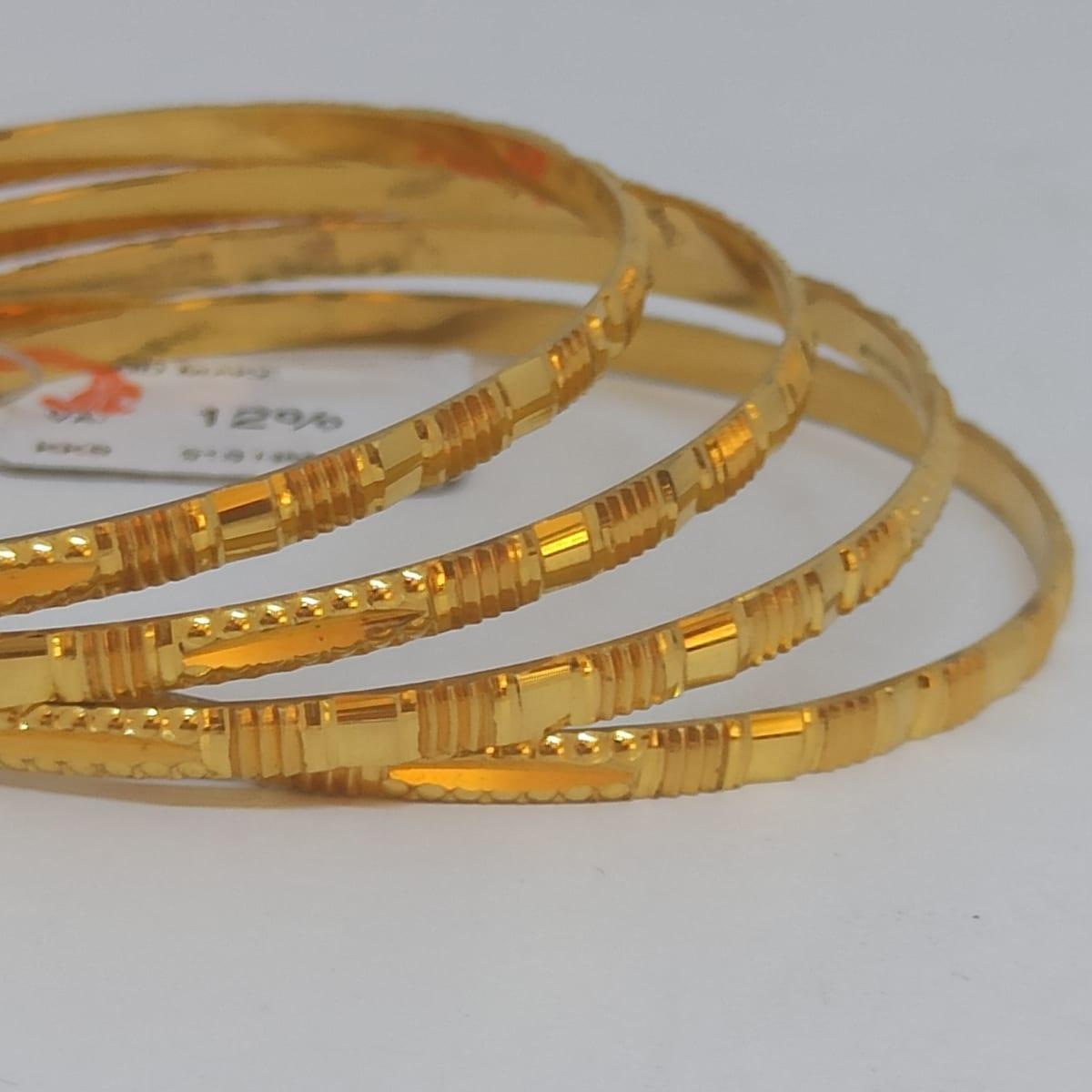 Plain Gold Cnc Bangles