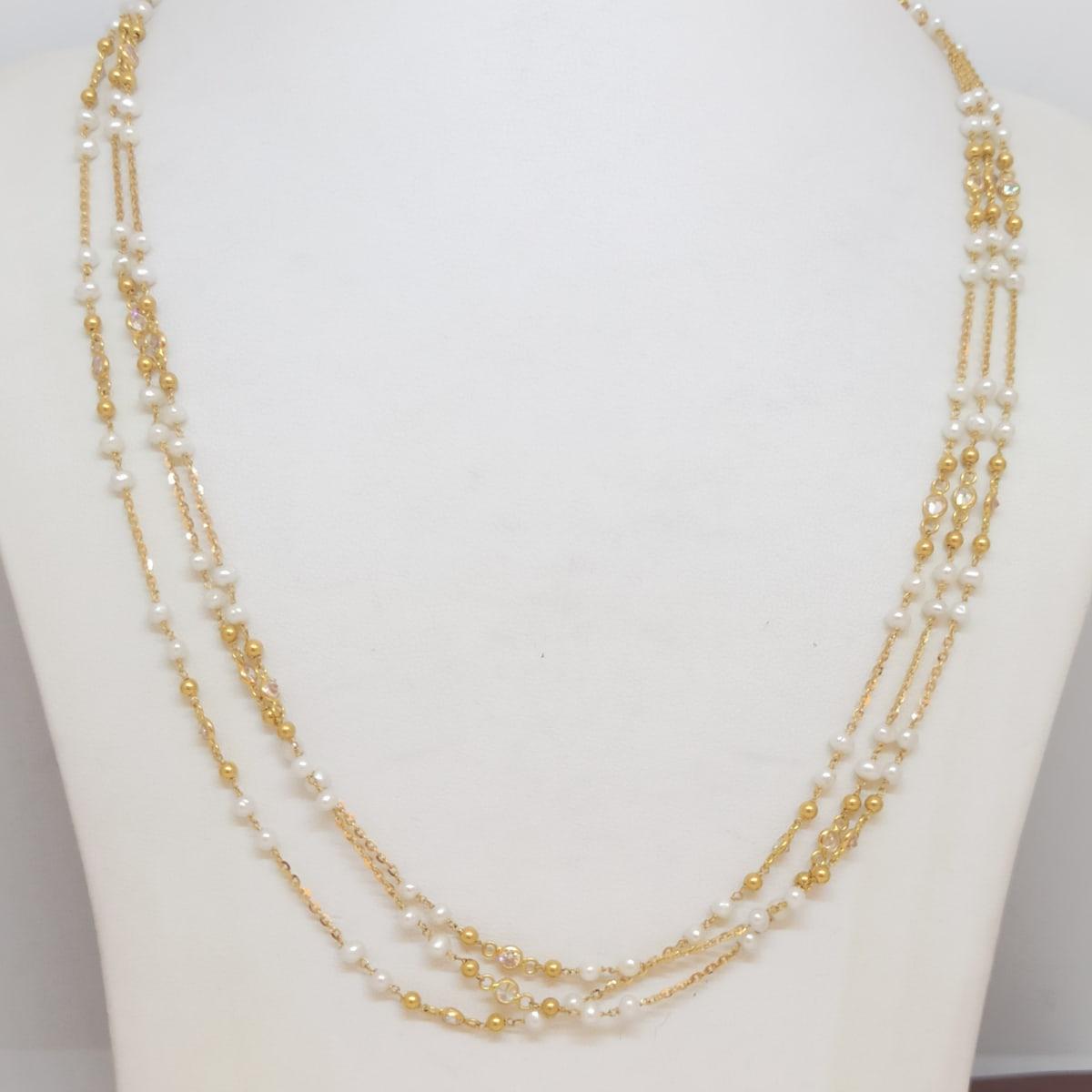 Pearl 3 Line Chain