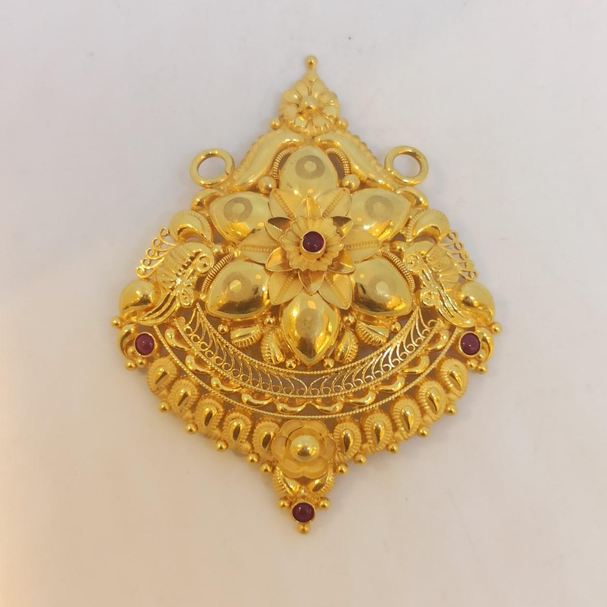 Flower Stone Traditional Pendant