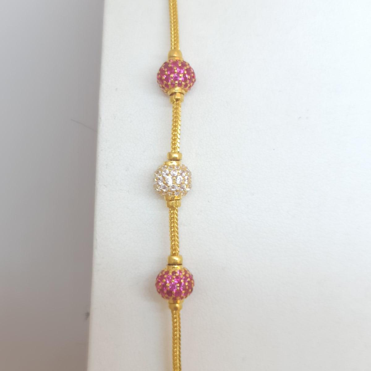 Pink Cz Chain
