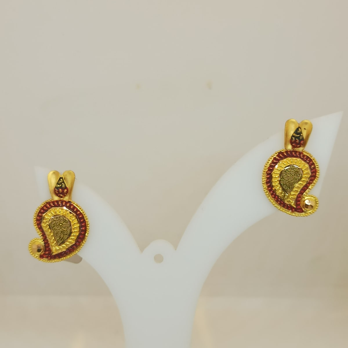 Red Stone Mango Earring