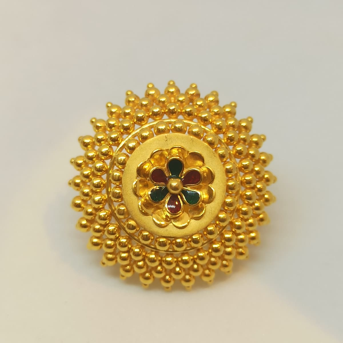 Red And Green Flower Stud