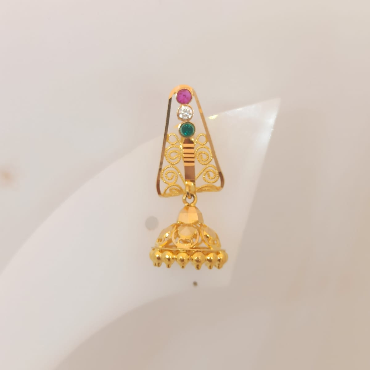 Triangle Cz Earring