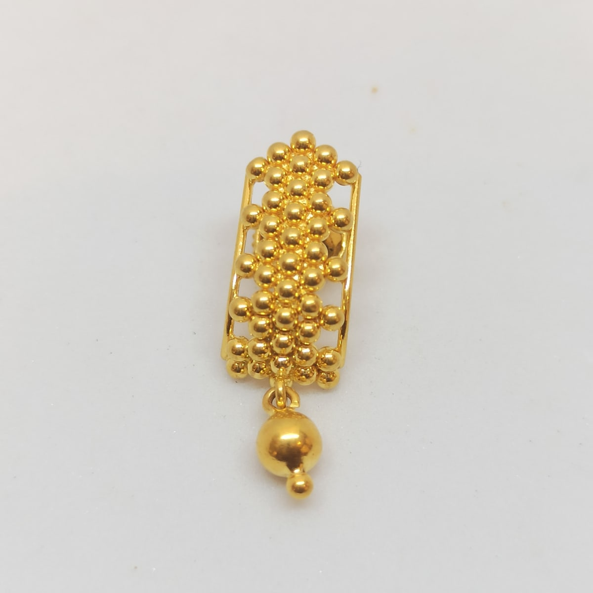 Gundu With Balls Gold Earrings