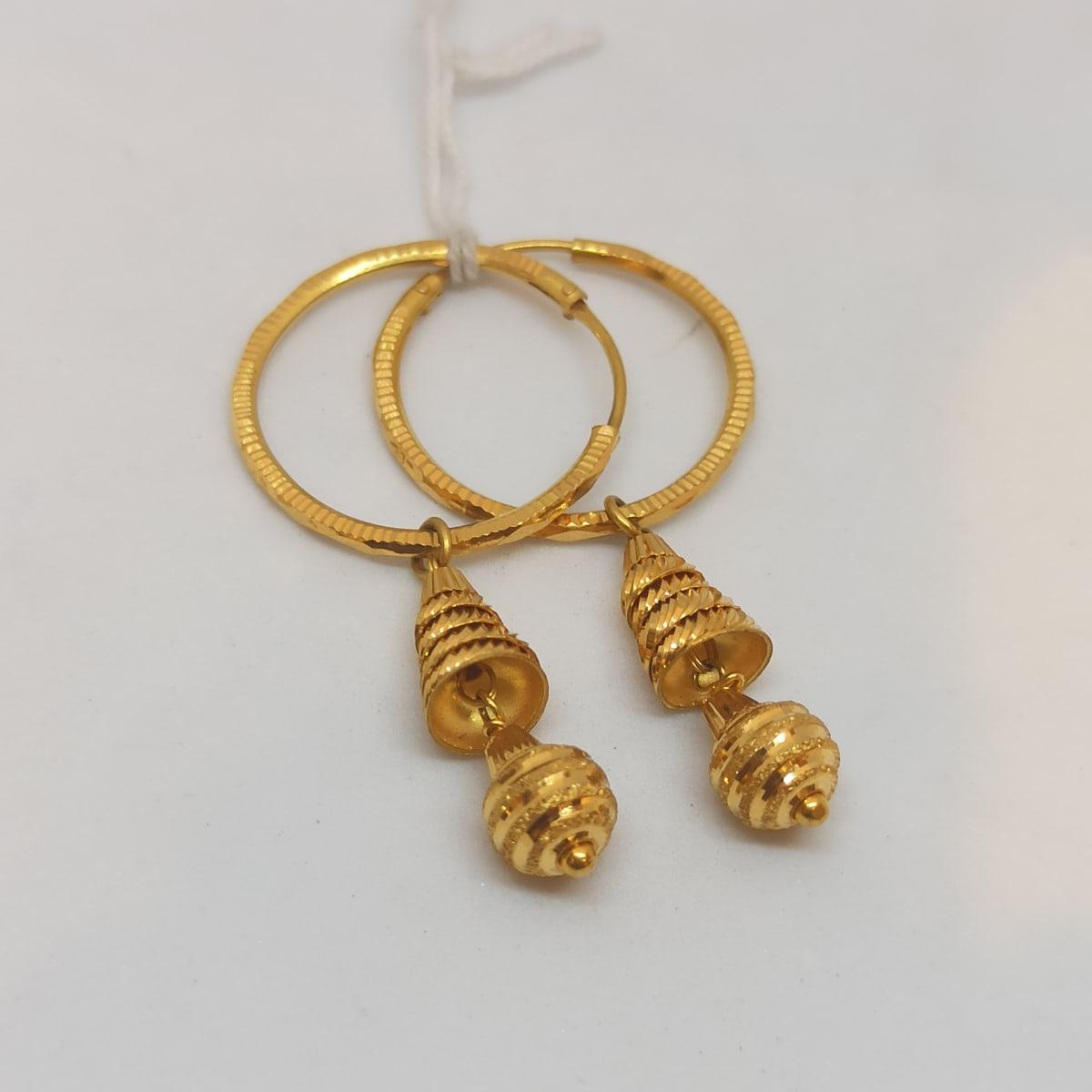 Ring With Hanging Gundu Earring