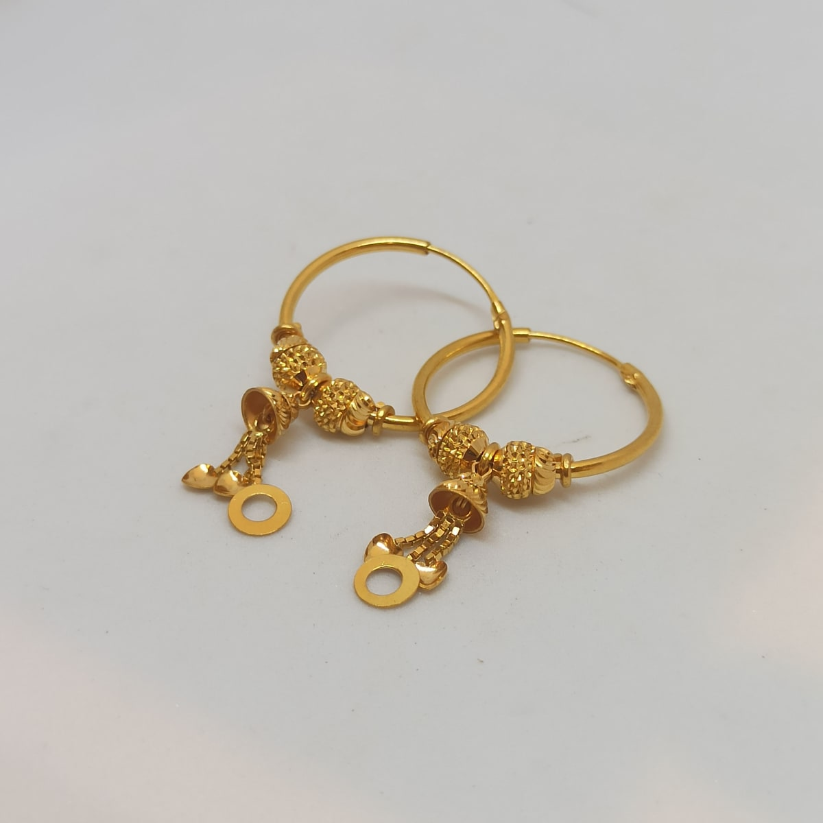 Ring With Hanging Dil Earring