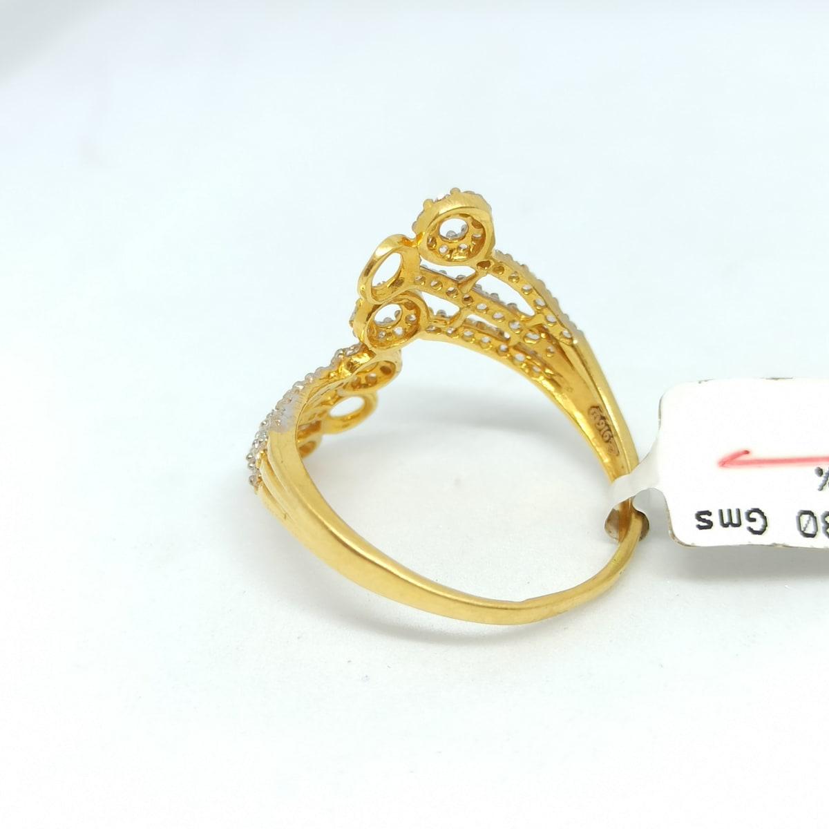 Circles Cz Ring
