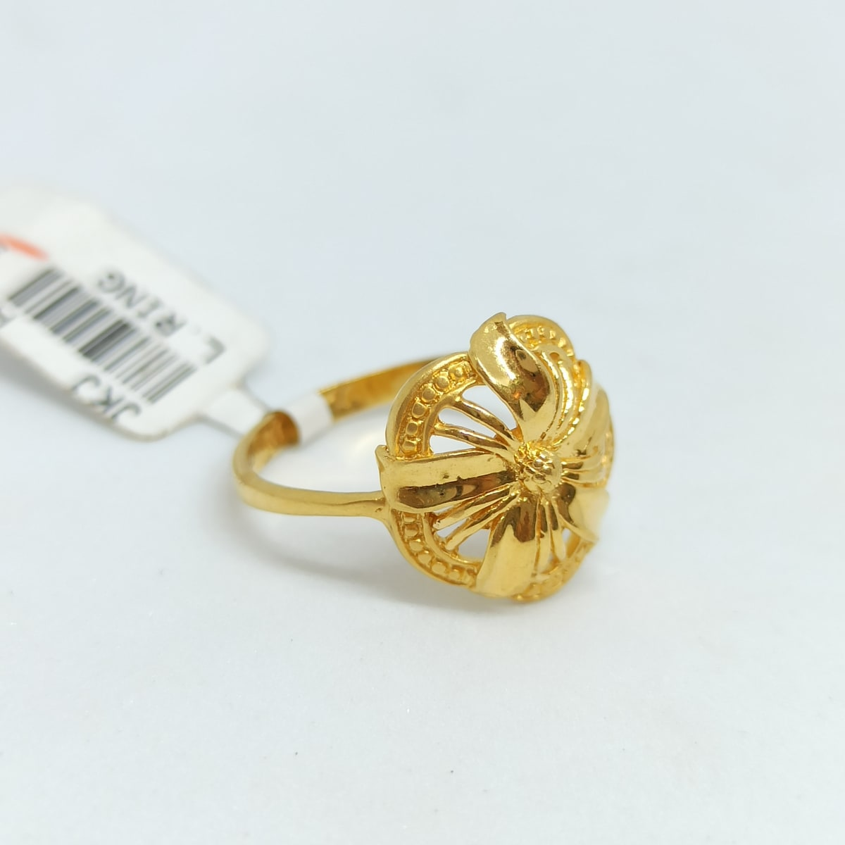 Lily Floral Plain Gold Ring