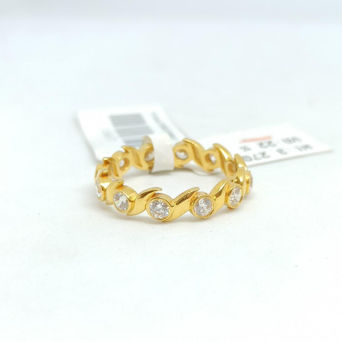 Waves Cz Band Ring