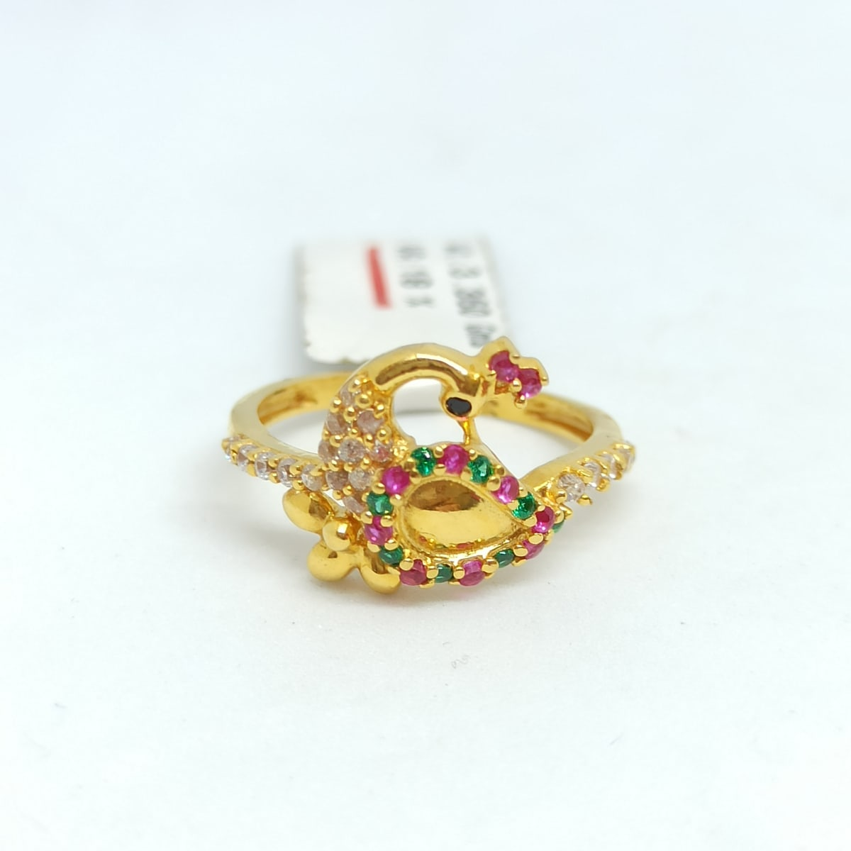 Peacock Cz Colorstone Ring